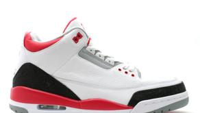 Uma versão alternativa do Air Jordan 3 -  Fire Red - será lançada no próximo ano!