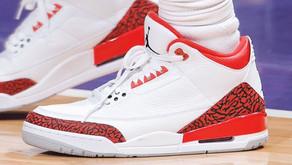 Chris Paul aparece com um Air Jordan 3 - Red Cement - nunca antes visto