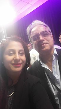 With former CEO of Tech Mahindra, Sanjay Kalra