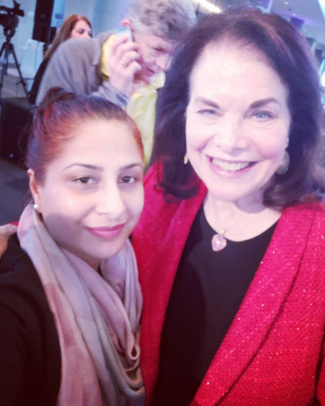 With Former CEO of Paramount Pictures, Sherry Lansing