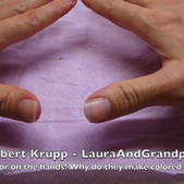 Hand Prints on Cabbage Paper