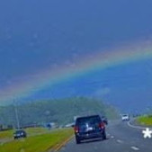 Driving UNDER a Rainbow!
