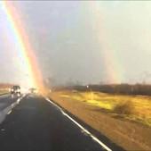 Driving THROUGH a Rainbow!