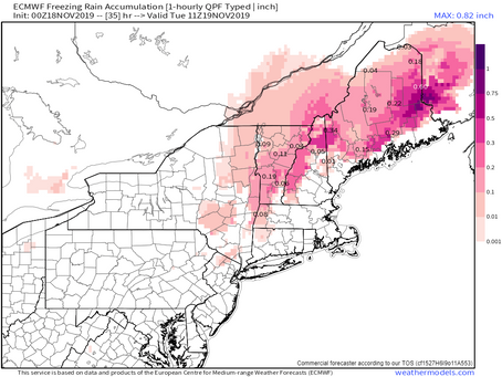 Update on Ice and Snow in New England and Long Island Weather