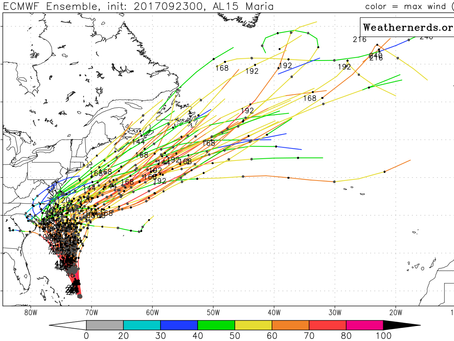 GFS and Euro Trend Hurricane Maria Much Closer to North Carolina and Lee is Back From the Dead and W