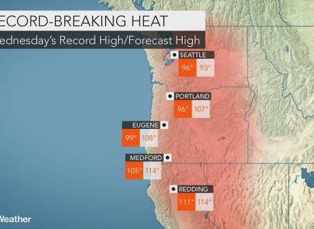 A Look at the Weather Through August, Pacific Northwest Heat Wave, and the Coming Total Solar Eclips