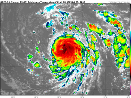 Hurricane Oscar in the Atlantic on the 6th Anniversary of Superstorm Sandy.