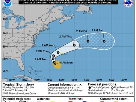 Update on Jerry, Karen, and Future Hurricane Lorenzo