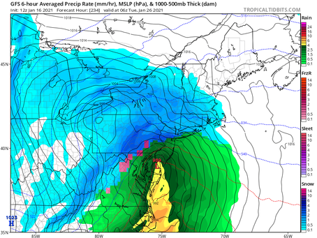 It's still in fantasy range, but the GFS is showing a monster northeast blizzard on the 26th:
