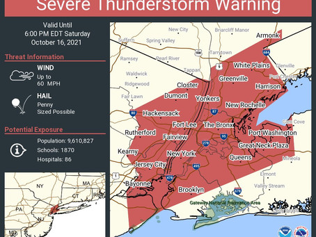 Severe Thunderstorm Warning - gusts up to 60 mph and hail possible:
