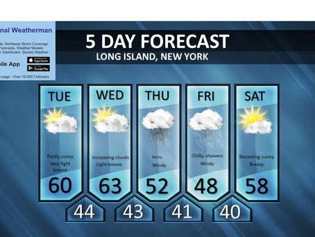 Long Island forecast and maps for the storm: