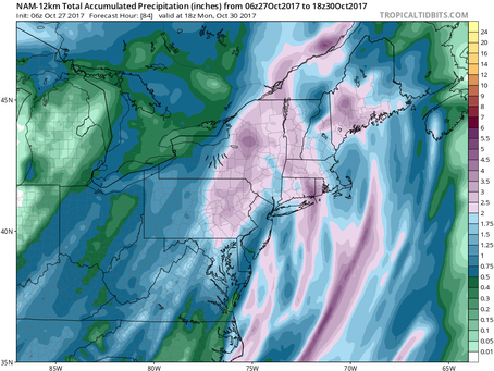Nor'Easter to Bring Rain and Wind to Long Island and New England