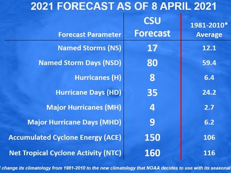 Hurricane season forecast: