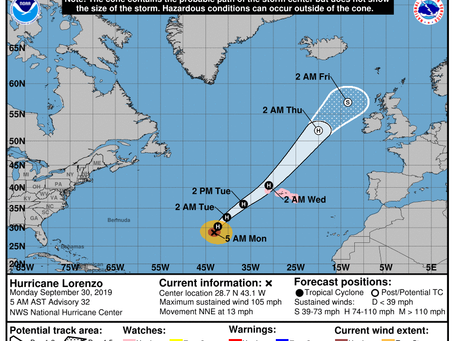 A Look at Hurricane Lorenzo and Long Island Weather