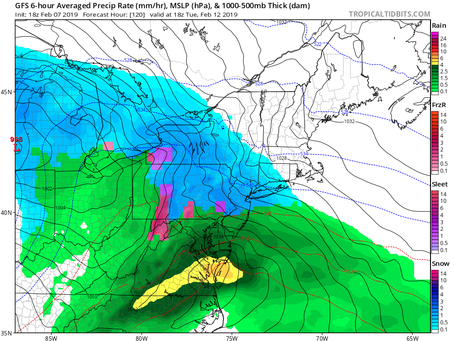Potential for Snow on Tuesday on Long Island