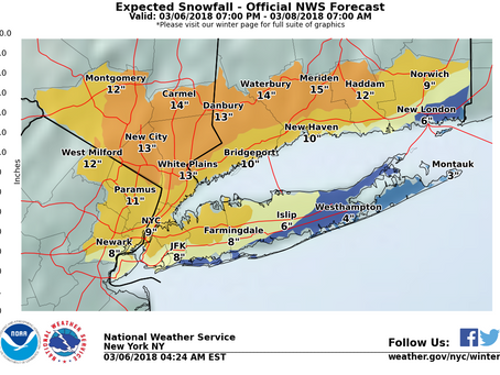 Details on the Snowstorm for the Long Island/ NYC Area
