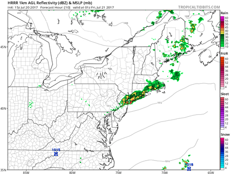 Quick Update on the Timing of the Moderate to Heavy Rain on Long Island Tonight