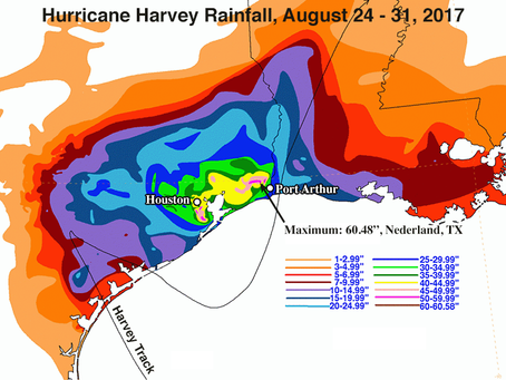 Global Warming Post: Extreme Harvey-Like Rainfall 18 Times More Likely by 2090