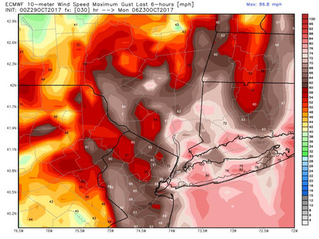 Strong Winds and Heavy Rain Headed for Long Island