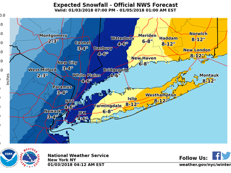 Blizzard Potential for Long Island