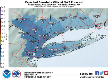 Long Island Snow Update