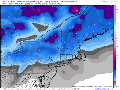 Potential Snowstorm in New England on Friday