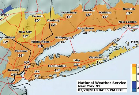 Major Snowstorm With Near-Blizzard Conditions on Track for Long Island