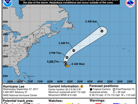 With Tropical Storm Maria and Hurricane Lee About to Move Away From the U.S., Where and When Will Na