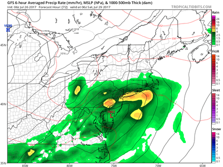 GFS and NAM Models Showing Different Placement of Storm for Friday Night into Saturday Morning