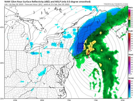 Storm update from 12Z models: