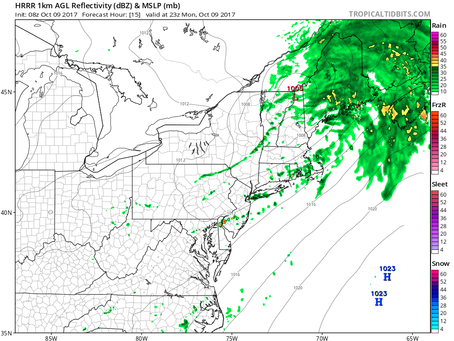 Timing the Rain and Wind Today, and the Weather for Game 4 of the ALDS at Yankee Stadium Tonight