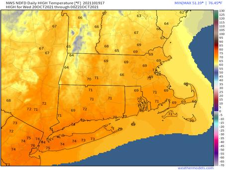 Warm Wednesday: