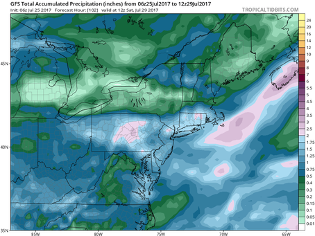 Potential for Flooding Rain and the Best Weather of the Summer