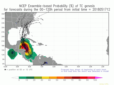 Odds Increasing for Tropical Storm