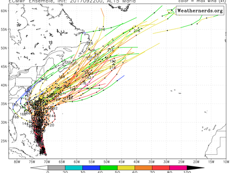 Maria May Come Close to Cape Hatteras and When Will the Warmth End on Long Island?