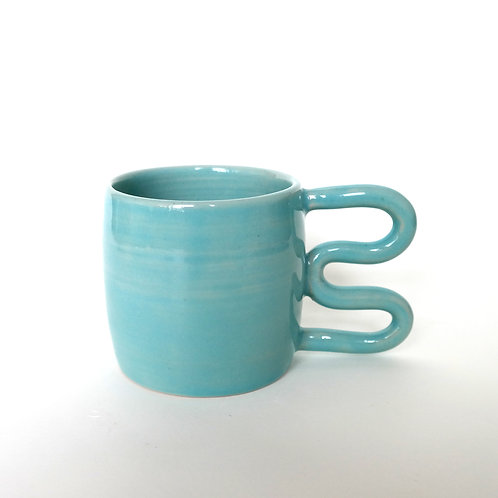 Cup wave blue