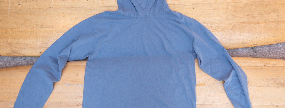 Blue Solid Hooded Tee