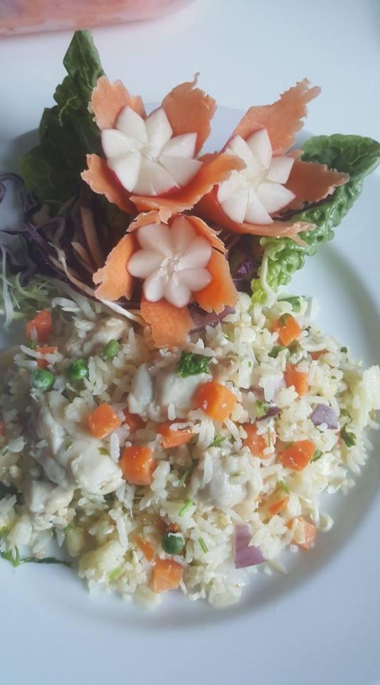 Vegetable egg-fried rice