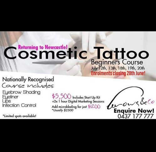 Beginner's Cosmetic Tattoo Course - Newcastle Starts 12 July 2019