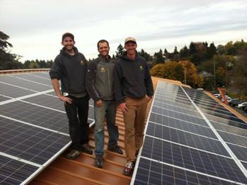 SunBridge Solar Crew, wrapping up the installation