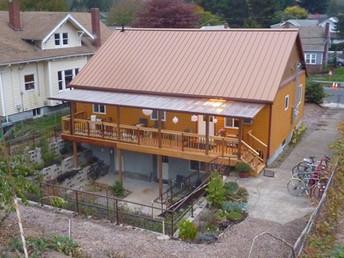 Amrita House Rear with Balcony and Sunke
