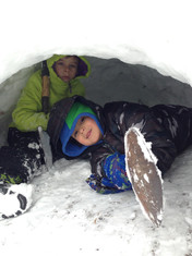 Rano and Jyoti'smana in a snow cave