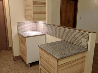 North Kitchen Cabinets, No Range