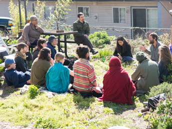 Simple Living Discussion at the Herb Gar