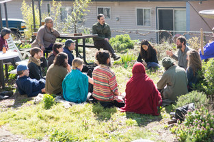 Simple Living Discussion at the Herb Garden