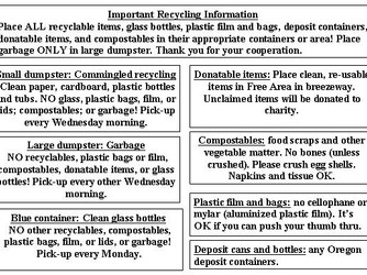 Important Recycling Information
