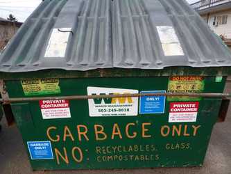 Garbage Only Dumpster