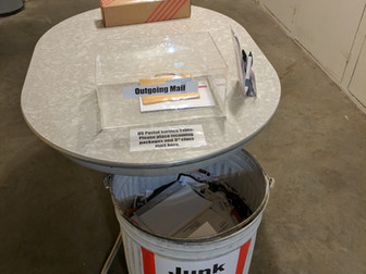 Mail Table and Junk Mail Recycling