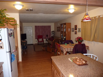 Kitchen Island, Dining and Living room