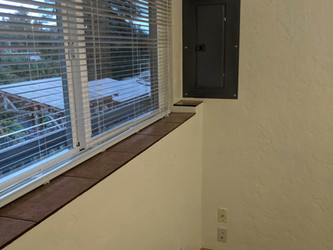 Electric Panel and Window Sill
